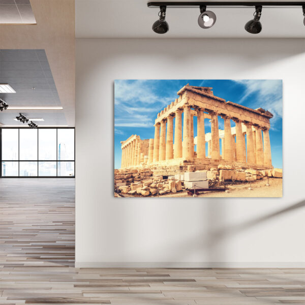 Πίνακας σε καμβα Παρθενώνας σε γαλανό ουρανό