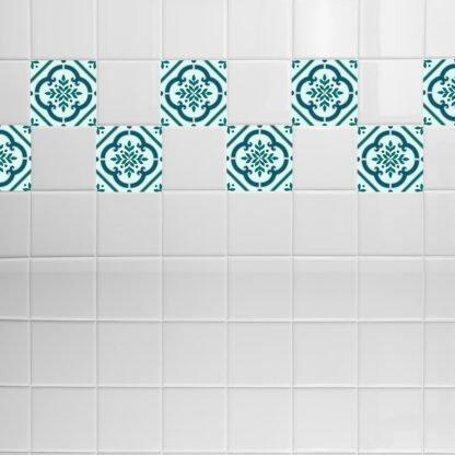 Σετ 8 τεμ αυτοκόλλητα πλακάκια pattern no 1