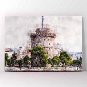 Πίνακας σε καμβά Θεσσαλονίκη