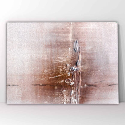 Πίνακας σε καμβά White brown Abstract