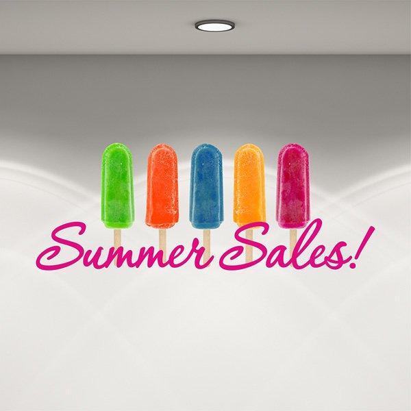 Αυτοκόλλητο καλοκαιρινής βιτρίνας sorbet summer sales
