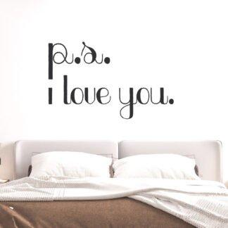 Αυτοκόλλητο τοίχου P.S. I love you