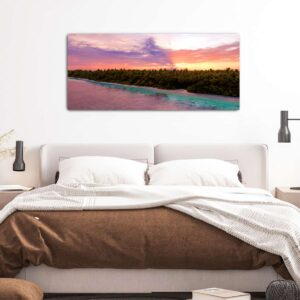 Purple Sunset πίνακας σε καμβά