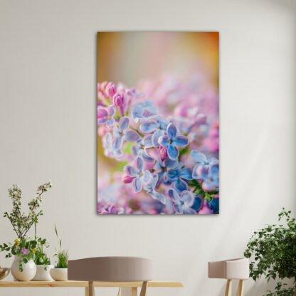 Κάθετος πίνακας σε καμβά Rainbow Flowers