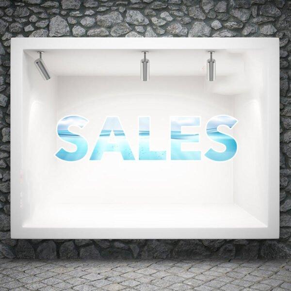 Αυτοκόλλητο βιτρίνας sales wave