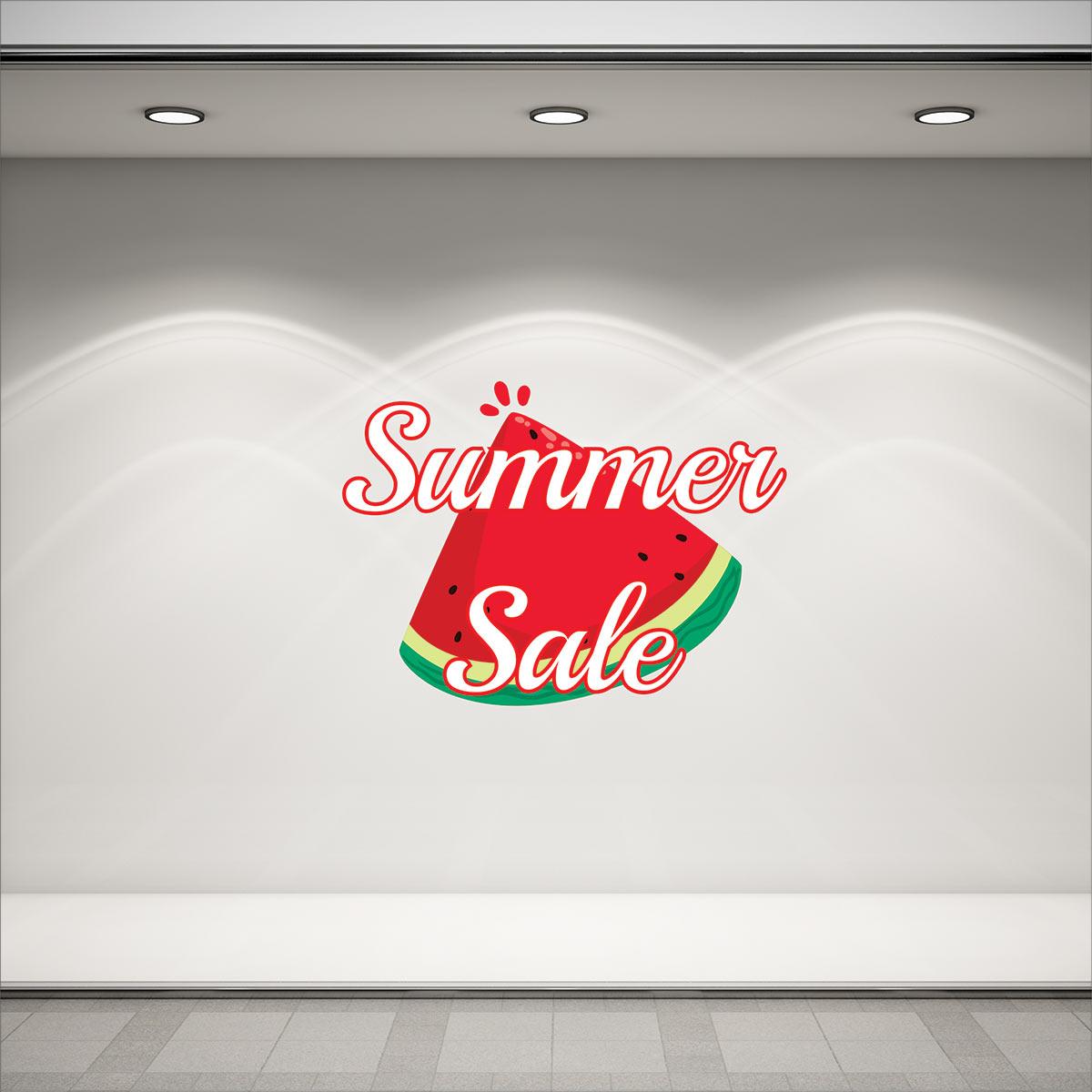 Αυτοκόλλητο καλοκαιρινής βιτρίνας με καρπουζι νο2 summer sales