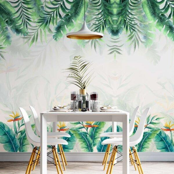 Φωτοταπετσαρία τοίχου Τροπικά φύλλα