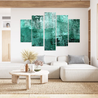 Πεντάπτυχος πίνακας σε καμβά turquise abstract no2 LW