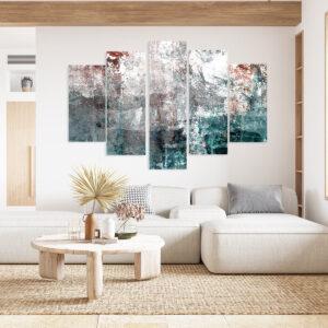 Πεντάπτυχος πίνακας σε καμβά turquise abstract LW