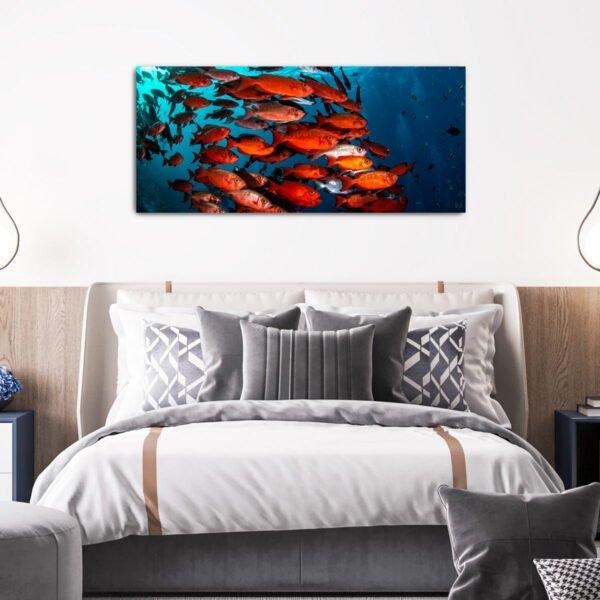 Underwater fish πίνακας σε καμβά