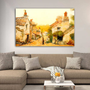 Village Painting πίνακας σε καμβά