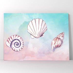 Πίνακας σε καμβά watercolor shells