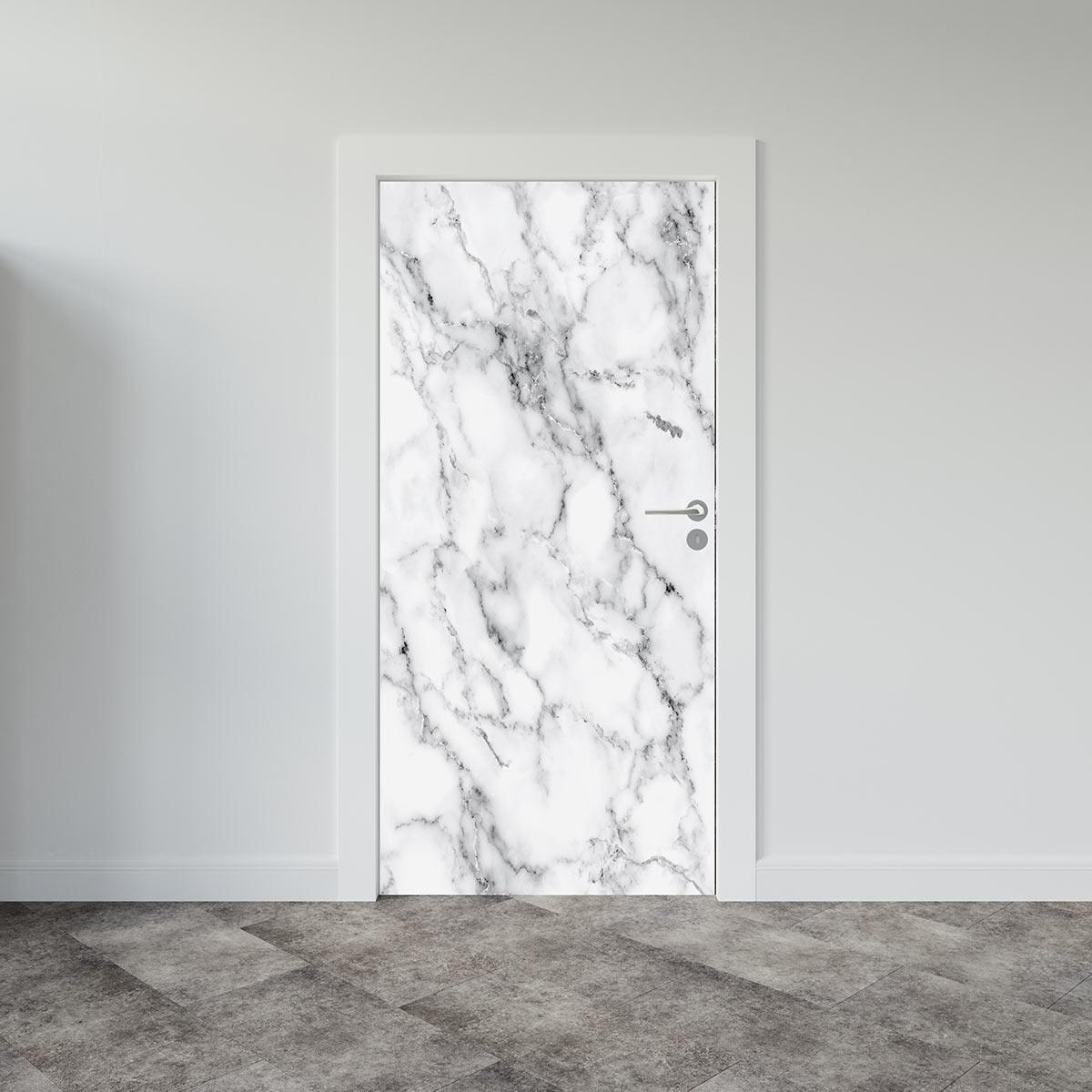 Αυτοκόλλητο πόρτας White Marble