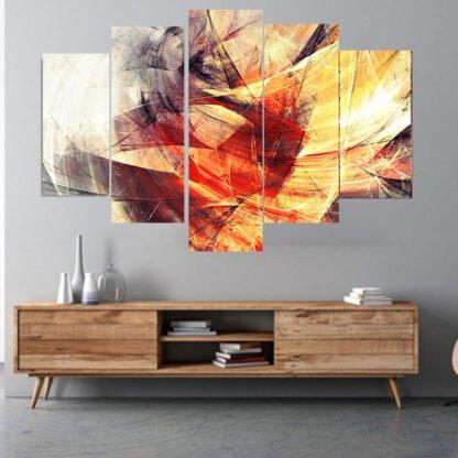 Πεντάπτυχος πίνακας σε καμβά winter passion