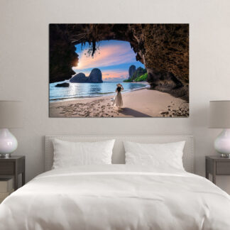 Πίνακας σε καμβα Woman on the beach