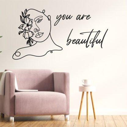 Αυτοκολλητο τοιχου you are beautiful