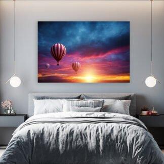 Πίνακας σε καμβά hot air balloons magic sunset