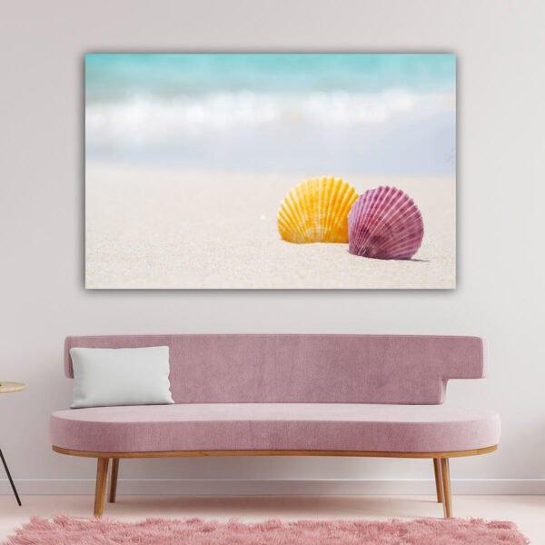 Πίνακας σε καμβά Κοχύλια στην παραλία