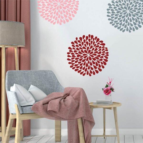 Αυτοκόλλητο τοίχου Artistic Flowers