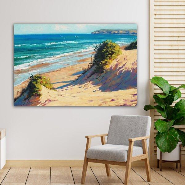 Πίνακας σε καμβά Beach Painting