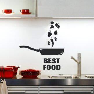 Αυτοκόλλητο τοίχου Best Food