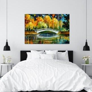 Πίνακας σε καμβά Bridge Painting