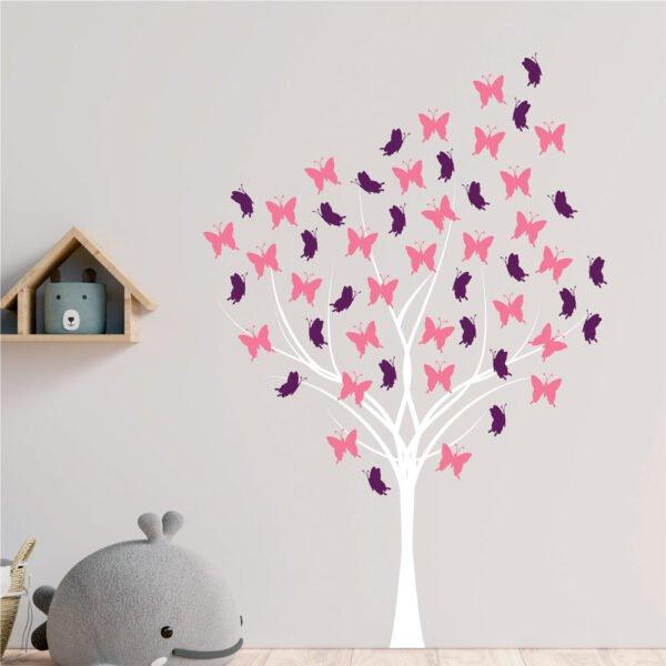 Αυτοκόλλητο τοίχου Butterfly Tree
