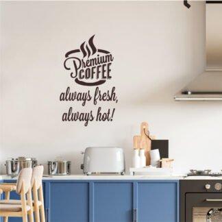 Αυτοκόλλητο τοίχου Coffee no1