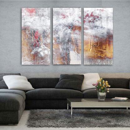 Τρίπτυχος πίνακας Dust Abstract