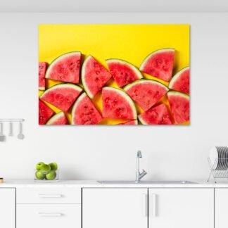 Πίνακας σε καμβά Φετούλες καρπούζι