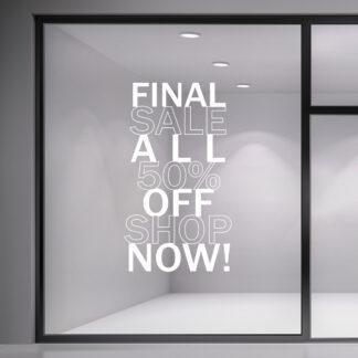 Αυτοκόλλητο βιτρίνας Final Sale