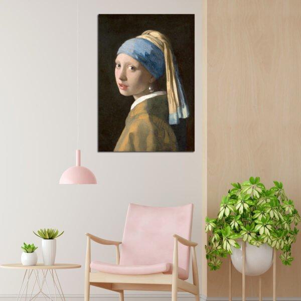 Πίνακας σε καμβά Girl With Pearl Ring