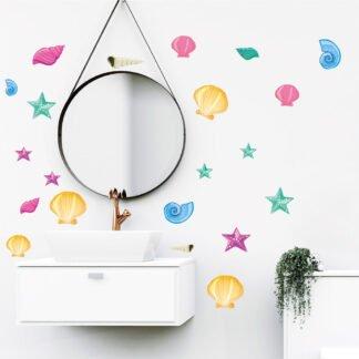 Αυτοκόλλητο μπάνιου κοχύλια νο4