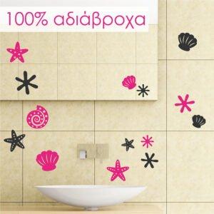 Αυτοκόλλητο μπάνιου κοχύλια νο5