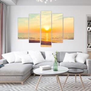 Πεντάπτυχος πίνακας σε καμβά Sweet Sunset
