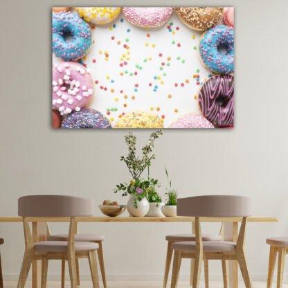 Πίνακας σε καμβά Donuts