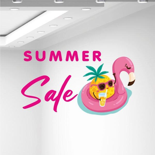 Αυτοκόλλητα καλοκαιρινής βιτρίνας Summer sale φουσκωτό