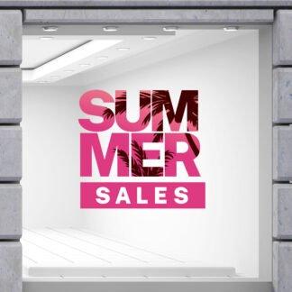 Αυτοκόλλητα καλοκαιρινής βιτρίνας Tropical Summer Sale No 2