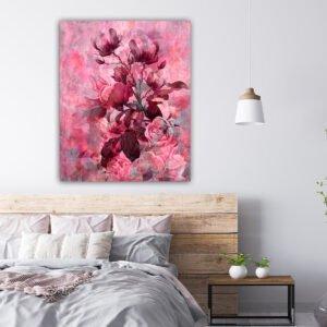 Πίνακας σε καμβά vintage pink rose