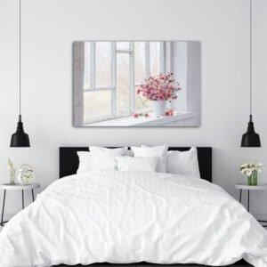 Πίνακας σε καμβά Looking at the window