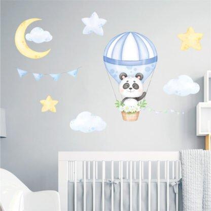 Αυτοκόλλητο τοίχου Panda σε αερόστατο