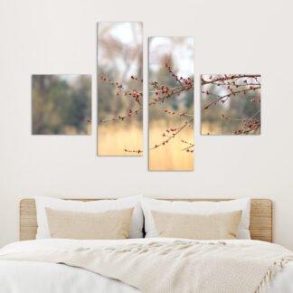 Τετράπτυχος πίνακας σε καμβά Blossom