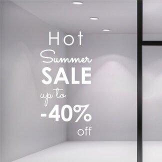 Αυτοκόλλητο βιτρίνας Hot Summer Sale