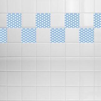 Σετ 8 τεμ αυτοκόλλητα πλακάκια κύμα νο 2