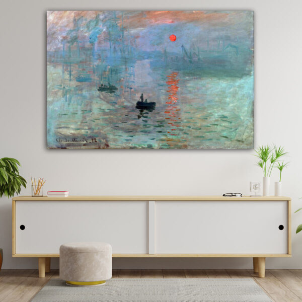 Monet Sunrise – Αντίγραφο πίνακας σε καμβά