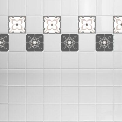 Σετ 8 τεμ αυτοκόλλητα πλακάκια pattern no 2