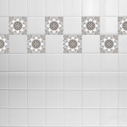 Σετ 8 τεμ αυτοκόλλητα πλακάκια pattern no 3