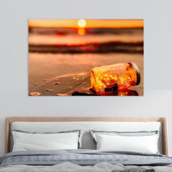 Πίνακας σε καμβά Ρομαντικό ηλιοβασίλεμα