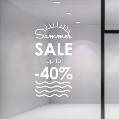 Αυτοκόλλητο βιτρίνας Sun Summer Sale