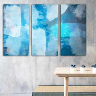 Τρίπτυχος πίνακας Oceanic Abstract